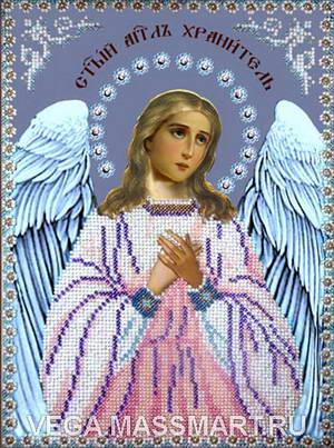 Ангел Хранитель.  Набор для вышивания бисером.  Размер 19смх26см