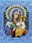Вышиваем бисером.  Пресвятая Богородица держит на...